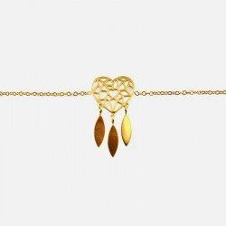 Bracelet Acier Inoxydable Coeur Attrapeur de Rêves