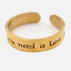 Bague Acier Inoxydable You Need Is Love