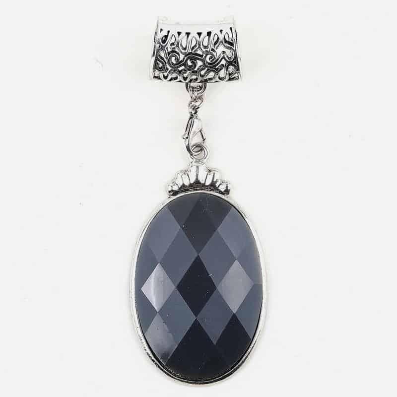 Bijou De Foulard Aspect Diamant 8.5 X 5 Cm