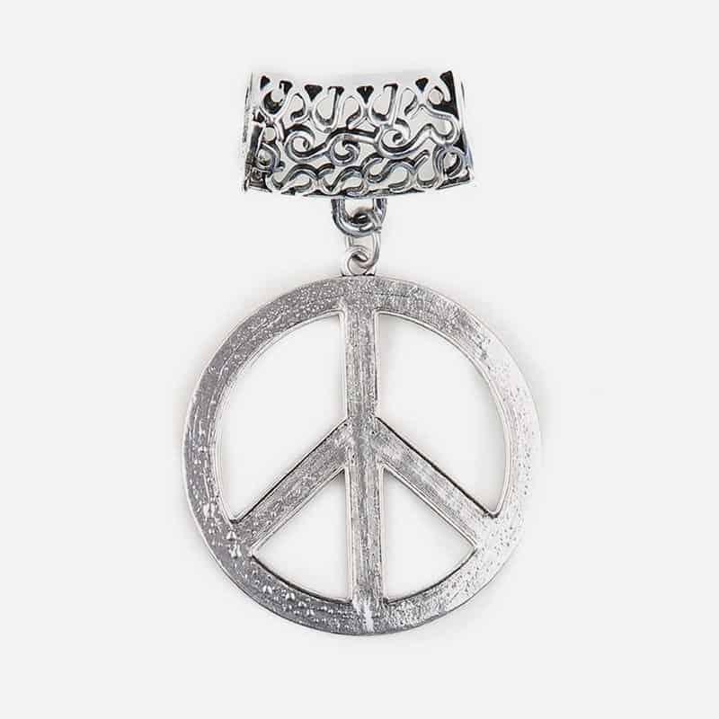 Bijou De Foulard Peace And Love 5 Cm