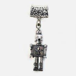 Bijou De Foulard Robot Squelette