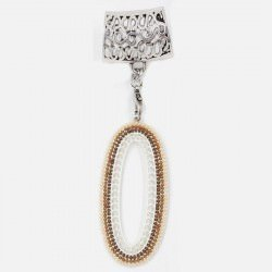 Bijou De Foulards Ovale Avec Perles