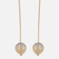 Paire De Boucles Doreilles Perle Et Chaîne