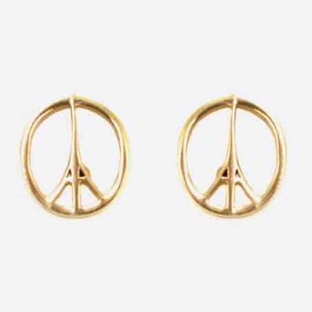 Boucles Doreilles Acier Inoxydable Logo Peace And Love