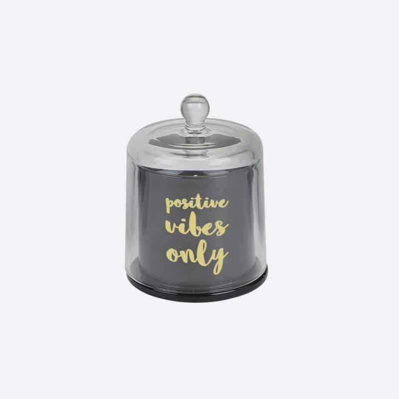 Bougie Parfumée Vanille Cloche Noir H11.8 Cm