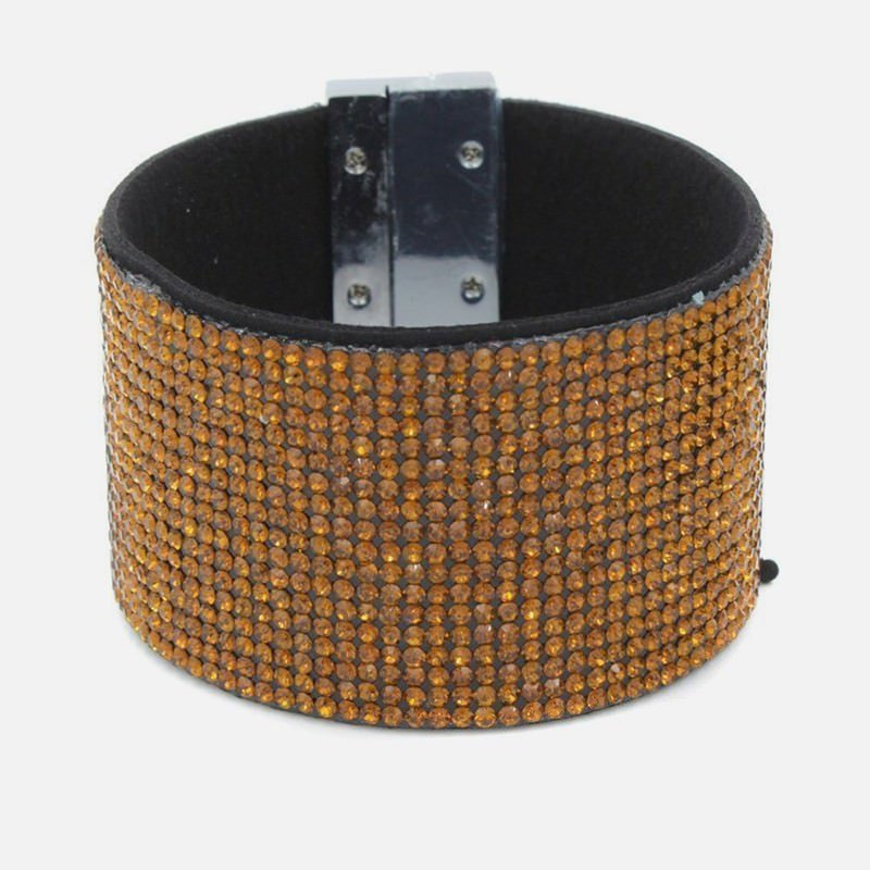 Bracelet Manchette Multiples Strass Couleur Unis