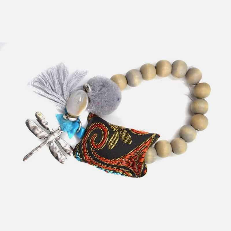 Bracelet Libellule Et Pompon