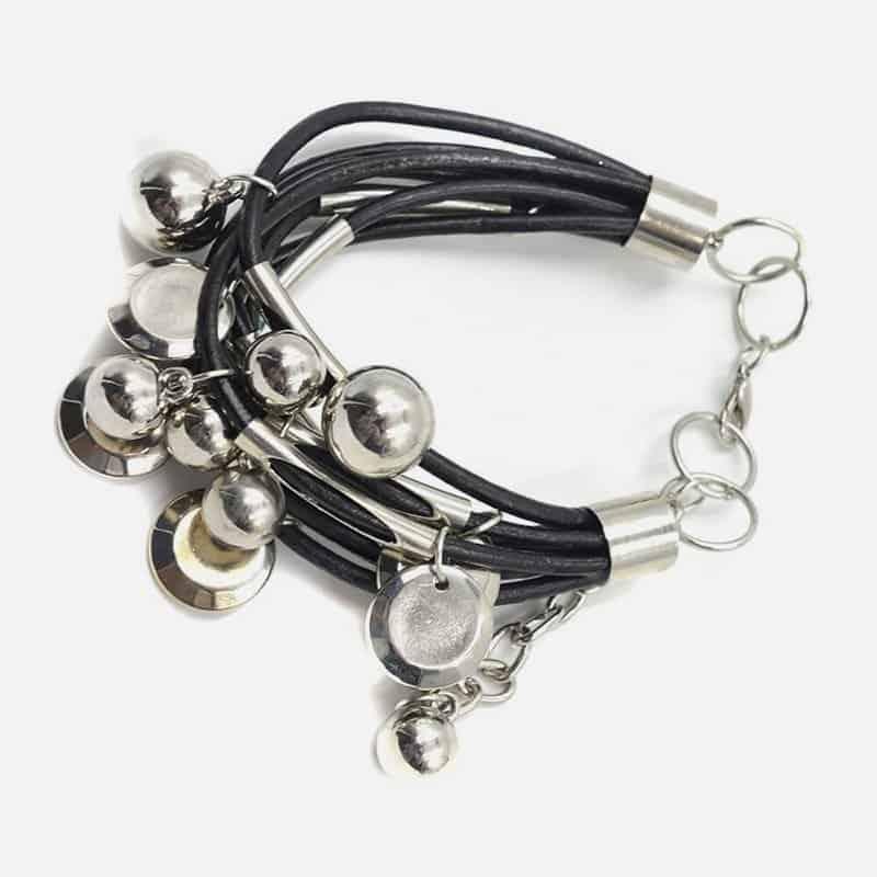 Bracelet Cuir Multiples Pendilles