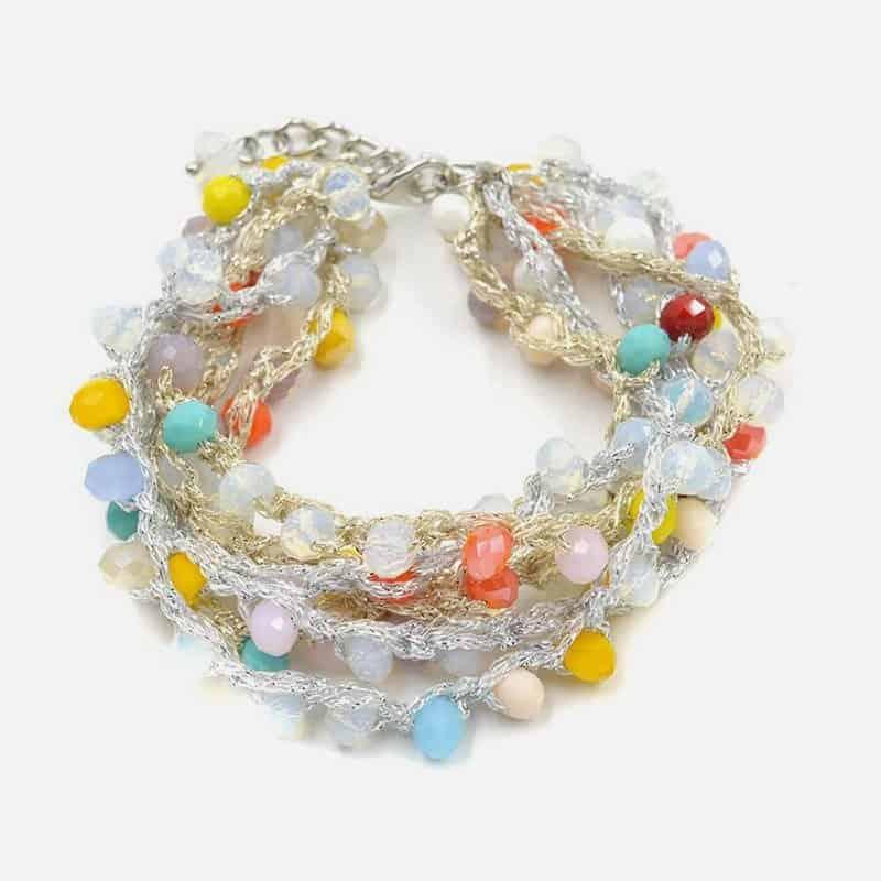 Bracelet Multirang Multiples Perles