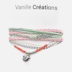 Bracelet Multirangs Perles Tresse Tête Indienne