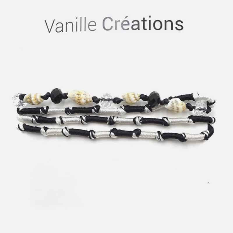 Bracelet Multirangs Perles Tresse Et Coquillages