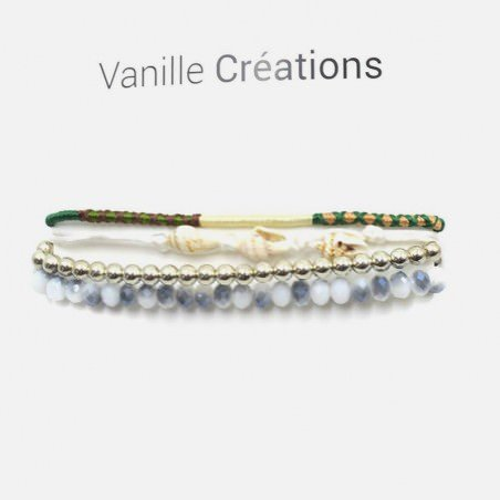 Bracelet Multirangs Perles Coquillages Fils Et Perles