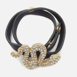 Bracelet Double Tour Serpent Strass