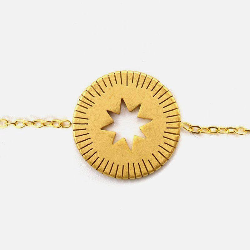 Bracelet Acier Inoxydable Etoile Centrale