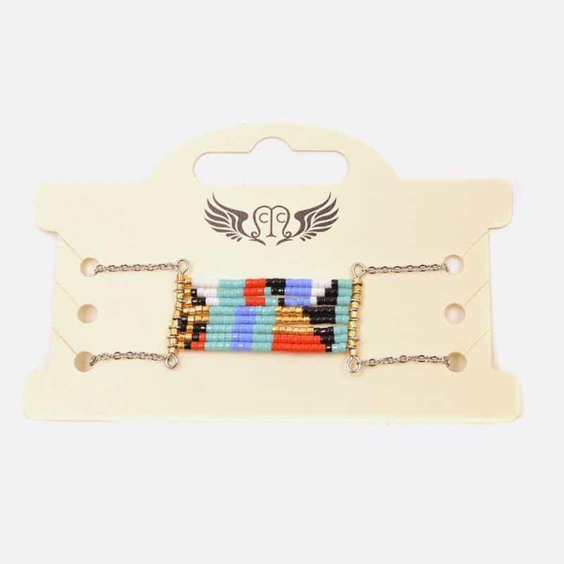 Bracelet Acier Inoxydable Multiples Perles A