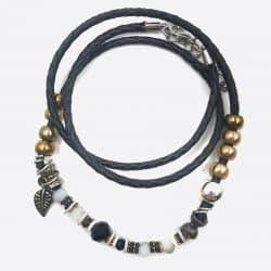 Bracelets Multiples Perles Et Feuille