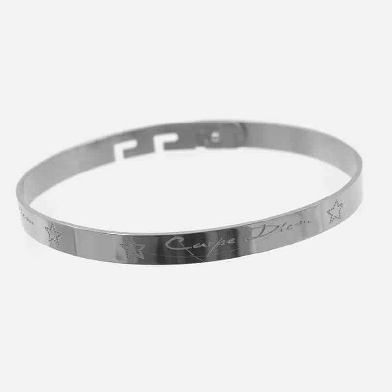 Bracelet Jonc Acier Inoxydable Carpe Diem