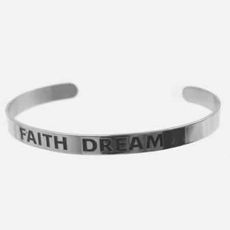 Bracelet Jonc Acier Inoxydable Faith Dream