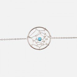 Bracelet Acier Inoxydable Attrapeur De Rêve Perle