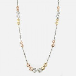 Collier Long Métal Multiples Torsade Strass