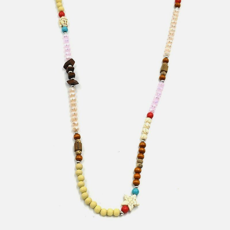 Collier Long De Perles Multicouleur