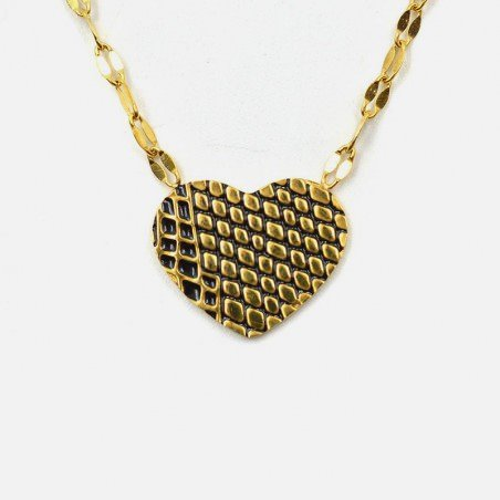 Collier Acier Inoxydable Coeur B