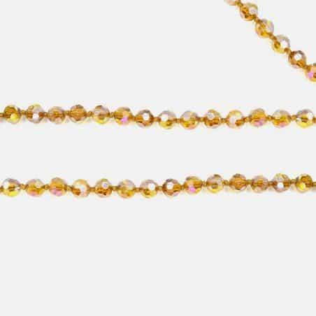 Collier Perles De Verres Environ 46 Cm