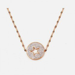 Collier Acier Inoxydable Cercle Strass Etoile