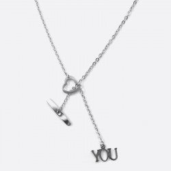 Collier Acier Inoxydable Love You