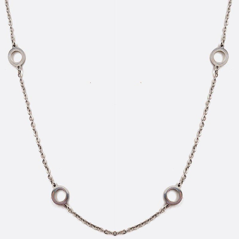 Collier Acier Inoxydable Multiples Cercles