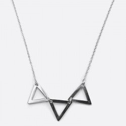 Collier Acier Inoxydable Triple Triangle