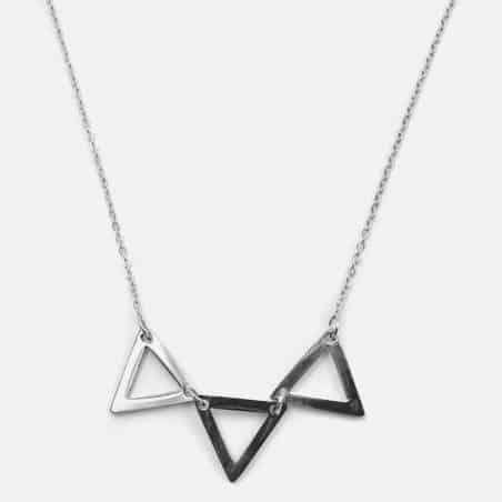 Collier Acier Inoxydable Triple Triangle