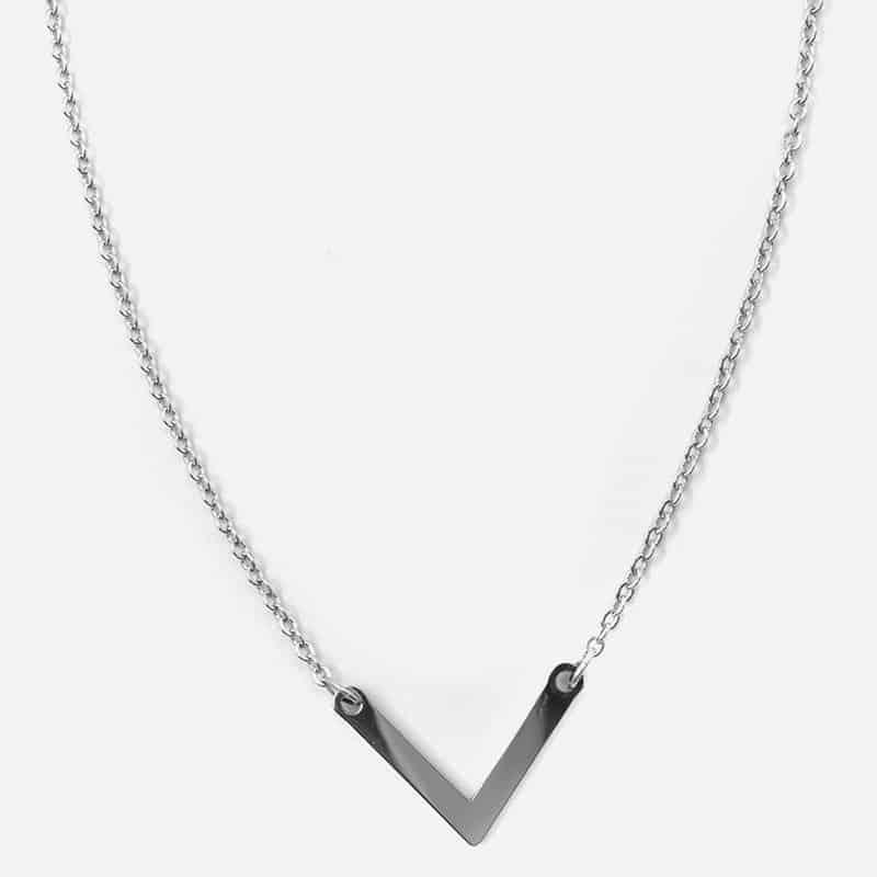 Collier Acier Inoxydable Triangle B