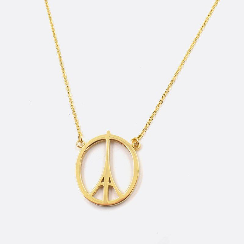 Collier Acier Inoxydable Peace And Love