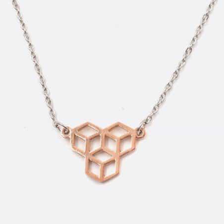 Collier Acier Inoxydable Formes Géométriques