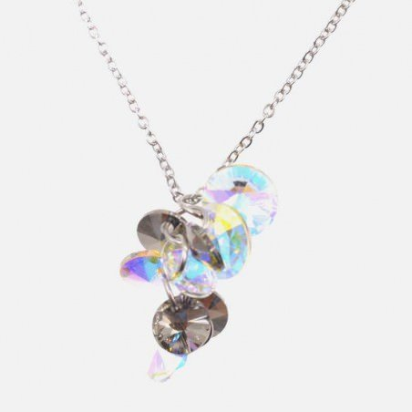 Collier Acier Inoxydable Multiples Strass B