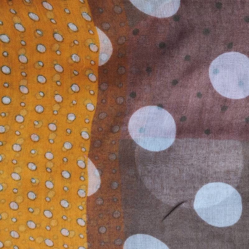 Foulards Motifs Multiples Pois 180 X 90 Cm 100% Viscose