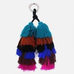 Porte-Clefs Double Pompon Franges