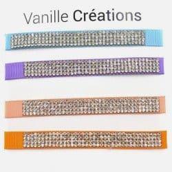 Pack De 4 Bracelets Bande Large Strass Multicouleur