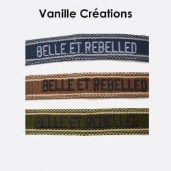 Pack De 3 Bracelets En Coton Tissé Belle Et Rebelle