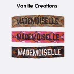 Pack De 3 Bracelets En Coton Tissé Mademoiselle