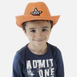 Chapeau Cowboy Pour Enfants Avec Etoile Centrale Raphia Papier