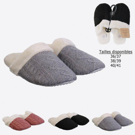 Chaussons Femme Tricot