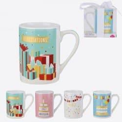 Mug Anniversaire Avec Emballage Cadeau 24 Cl