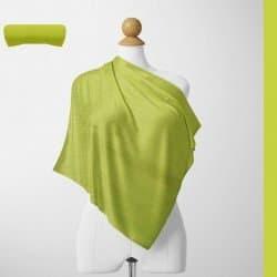 Foulard Unis Mixte Jersey Vert Jaune 100% Viscose 60 X 180 Cm (C27)