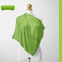 Foulard Unis Mixte Jersey Vert Clair 100% Viscose 60 X 180 Cm (C26)