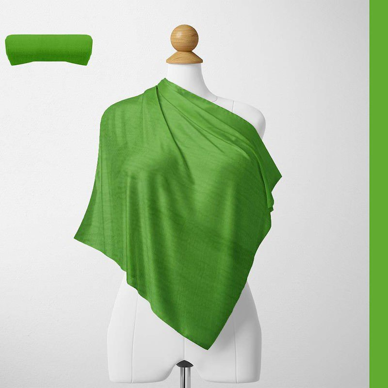 Foulard Unis Mixte Jersey Vert 100% Viscose 60 X 180 Cm (C25)