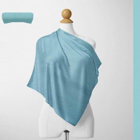 Foulard Unis Mixte Jersey Bleu Vert 100% Viscose 60 X 180 Cm (C19)