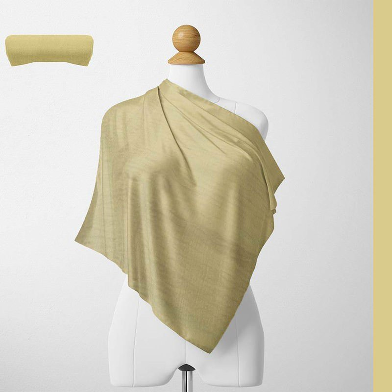 Foulard Unis Mixte Jersey Jaune Pale 100% Viscose 60 X 180 Cm (C09)