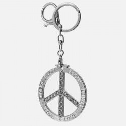 Porte-Clefs Peace And Love Strass